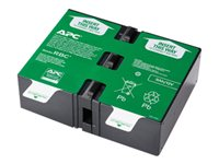 APC Replacement Battery Cartridge #124 - UPS battery - 1 x Lead Acid - for P/N: BR1200G-FR, BR1200GI, BR1300G, BR1500G, BR1500G-FR, BR1500GI, SMC1000-2U, SMC1000I-2U