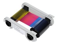 Evolis High Trust 1/2 YMCKOKO Ribbon - Farbe (Cyan, Magenta, Yellow, Resin-Black, klarer Überzug)