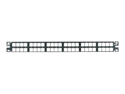 Panduit NetKey Flush Mount Modular Patch Panel - patch panel - 1U - 19""