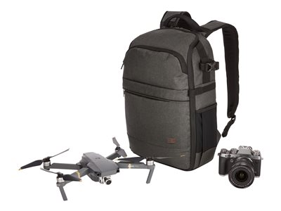 Case Logic Era Backpack for camera / drone polyester, melange fabric gray, black 13INCH