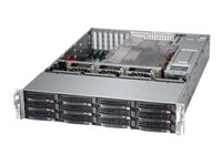 Supermicro SuperStorage Server 6027R-E1R12T Server rack-mountable 2U 2-way no CPU