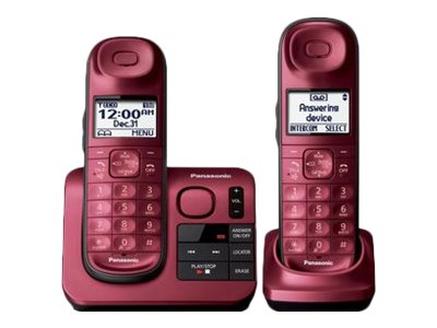 Panasonic KX-TGL432R Cordless phone answering system with caller ID/call waiting DECT 6.0