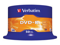 Verbatim - 50 x DVD-R - 4.7 GB 16x - matt silver - spindle