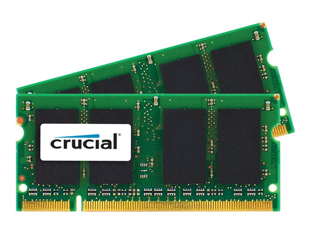 Crucial 4GB (2x2GB) DDR2 667MHz PC2-5300 SODIMM 200pin for Mac
