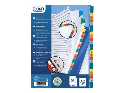 Intercalaires alphabétiques ELBA StrongLine - Intercalaire - 26 positions - A-Z - A4 Maxi - blanc