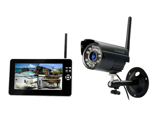 Technaxx Easy Security Camera Set TX-28 - Monitor + DVR + Kamera(s) - drahtlos - 17.8 cm (7
