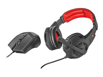 Trust GXT 784 Gaming headset full size wired with Gaming Mouse