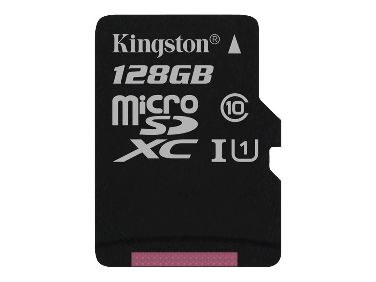 Kingston Canvas Select - Flash-Speicherkarte - 128 GB - UHS-I U1 / Class10 - microSDXC UHS-I