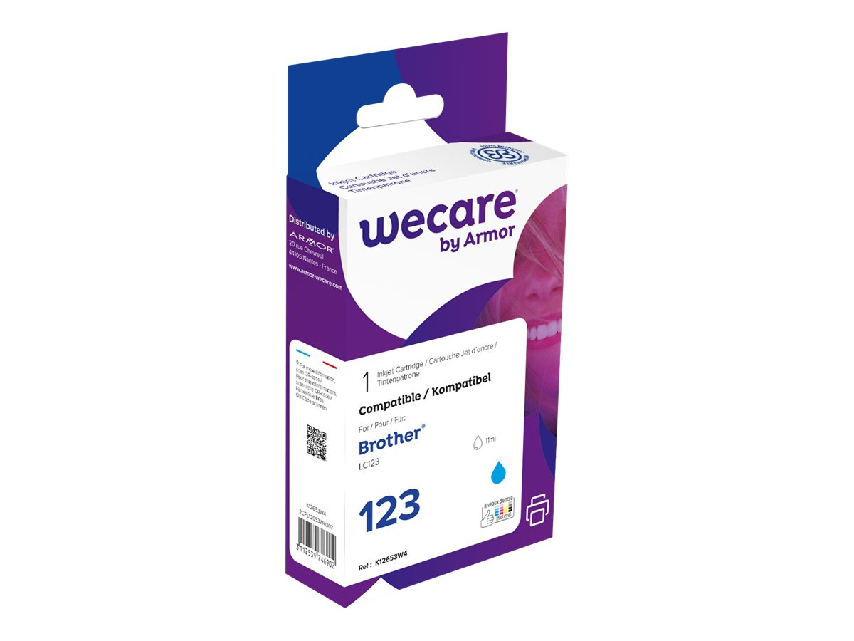 Brother LC123 - compatible Wecare K12653W4 - cyan - cartouche d'encre