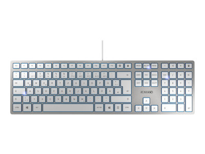 CHERRY KC 6000 slim - Keyboard - USB - UK layout - key switch: CHERRY SX - silver