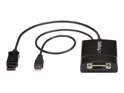 StarTech.com DisplayPort to DVI Adapter ¿ Dual-Link ¿ Active DVI-D Adapter for Your Monitor / Display - USB Powered ¿ 2560x1600 (DP2DVID2)