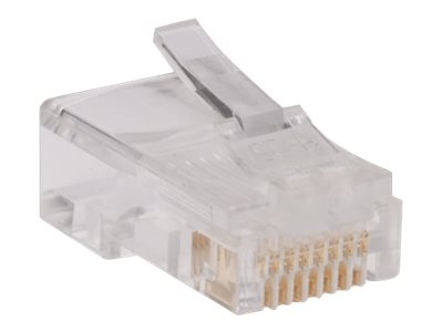 Tripp Lite RJ45 for Solid / Standard Conductor 4-Pair Cat5e Cat5 Cable 100 Pack - network connector