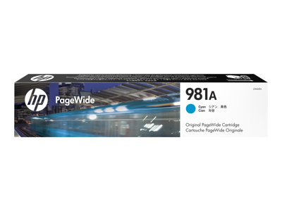 HP 981A 70 ml cyan original PageWide ink cartridge