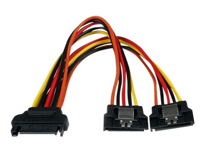 StarTech.com 6in Latching SATA Power Y Splitter Cable Adapter - M/F - 6 inch Serial ATA Power Cable Splitter - SATA Pow…