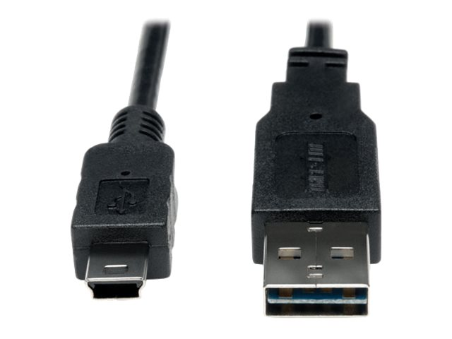 Tripp Lite 6ft USB 2.0 High Speed Cable Reversible A to 5Pin Mini B M/M 6' - USB cable - 1.83 m