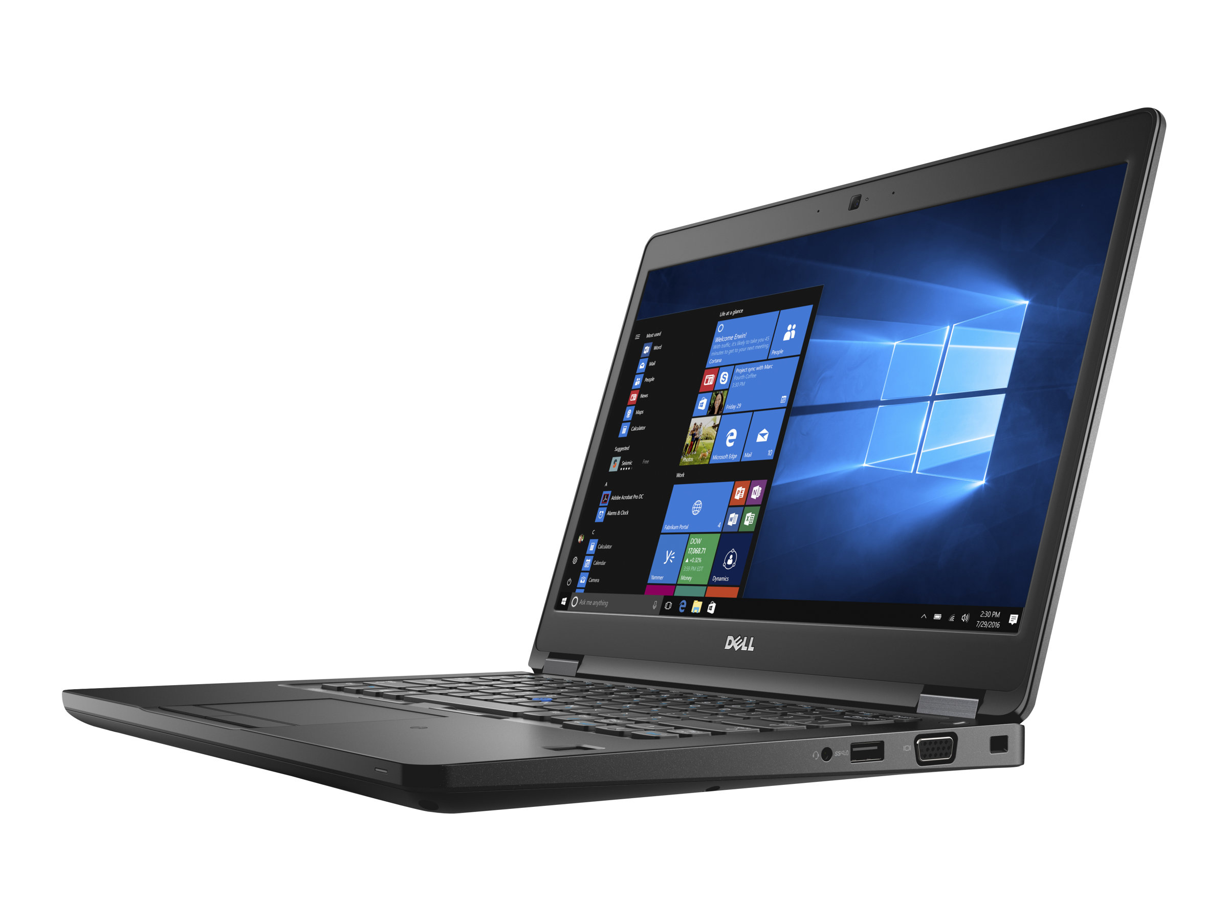 Dell Latitude 5480 - Core i5 7440HQ / 2.8 GHz - Win 10 Pro 64-Bit - 8 GB RAM - 256 GB SSD - 35.56 cm (14