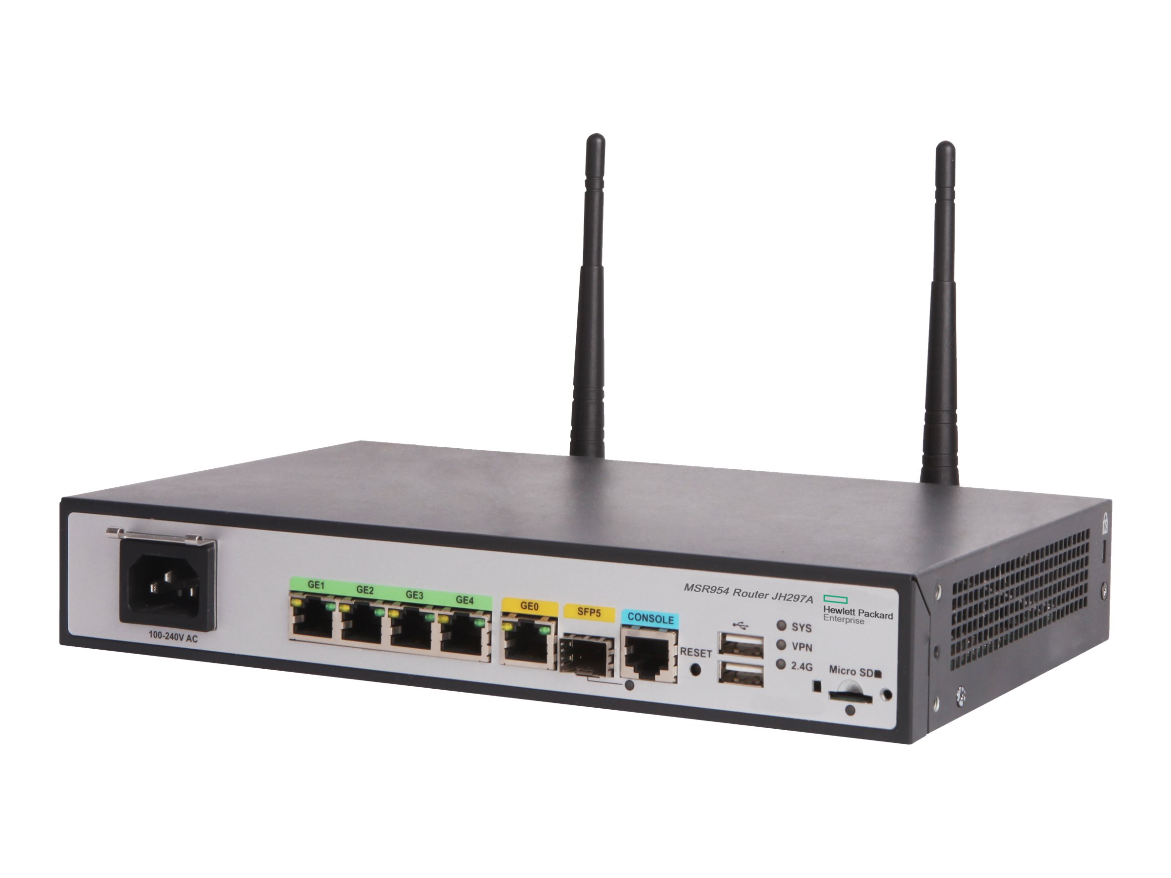 HPE MSR954-W (WW) - Wireless Router - 4-Port-Switch - GigE - 802.11b/g/n - 2,4 GHz