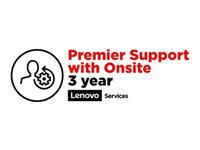 Lenovo Premier Support with Onsite NBD - Extended service agreement - parts and labor (for system with 3 years on-site warranty) - 3 years (from original purchase date of the equipment) - on-site - response time: NBD - for S400z; ThinkCentre M700z; M73z; M800z; M810z; M820z; ThinkSmart Hub 500