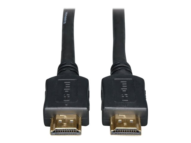 Tripp Lite High-Speed HDMI Cable with Ethernet - 4K, No Signal Booster Needed, M/M, Black, 50 ft. - High Speed HDMI with Ethernet cable - HDMI (M) to HDMI (M) - 15.2 m - double shielded - black - 4K support