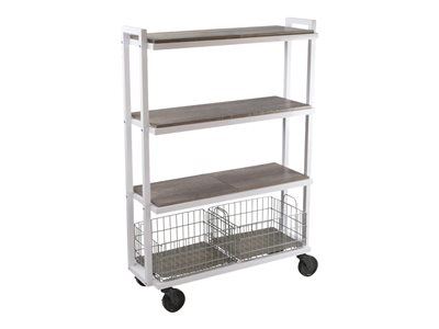 ürb SPACE Trolley 4 shelves 4 tiers powder-coated steel white