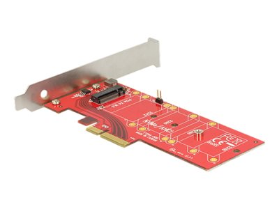 DeLOCK PCI Express x4 Card > 1 x internal NVMe M.2 Key M 110 mm heat sink Lagringskontrol
