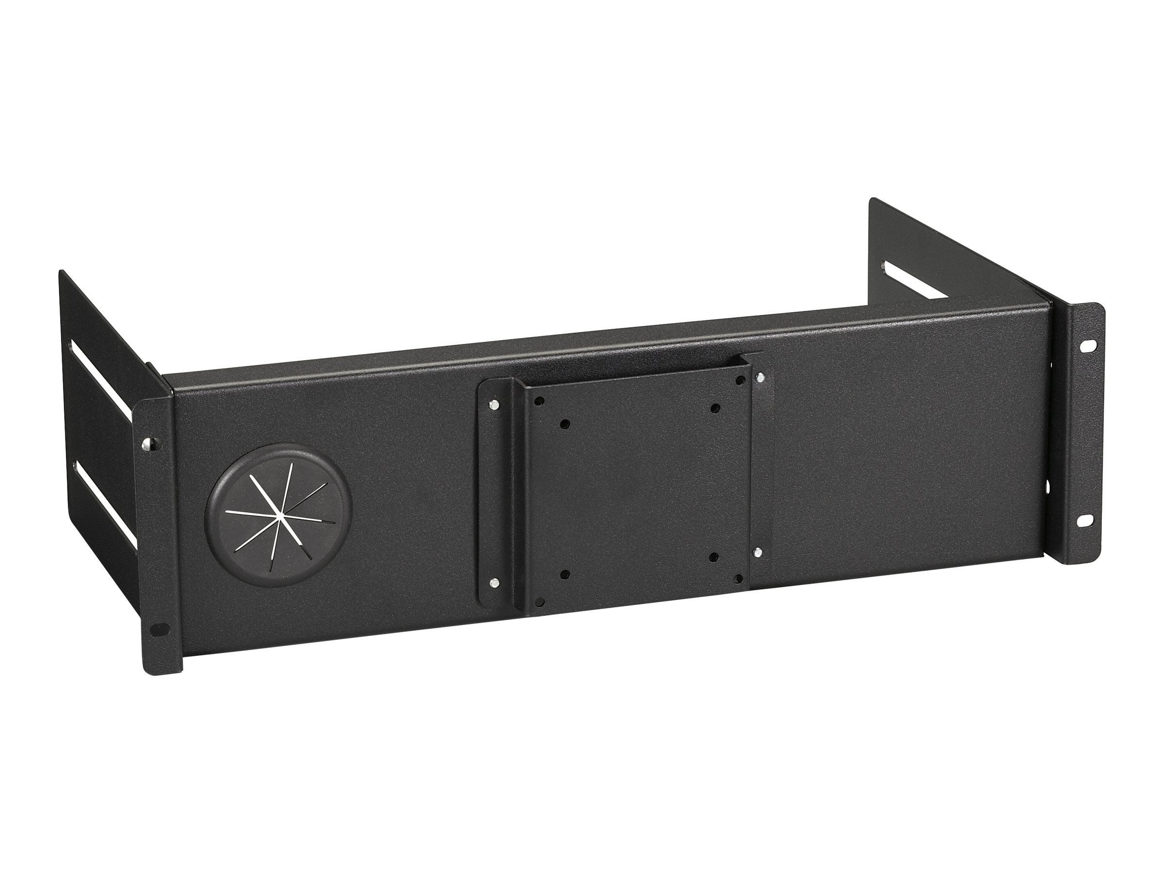 Black Box Flat-Panel Monitor Mount for Racks Fixed - monitor mounting kit