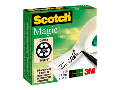 Rubans adhésifs Scotch Magic 810 - Ruban adhésif invisible 19mm x 33m - Par 1 ou par 6