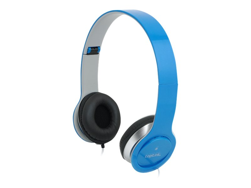 LogiLink Stereo High Quality Headset - Headset - Full-Size - Blau