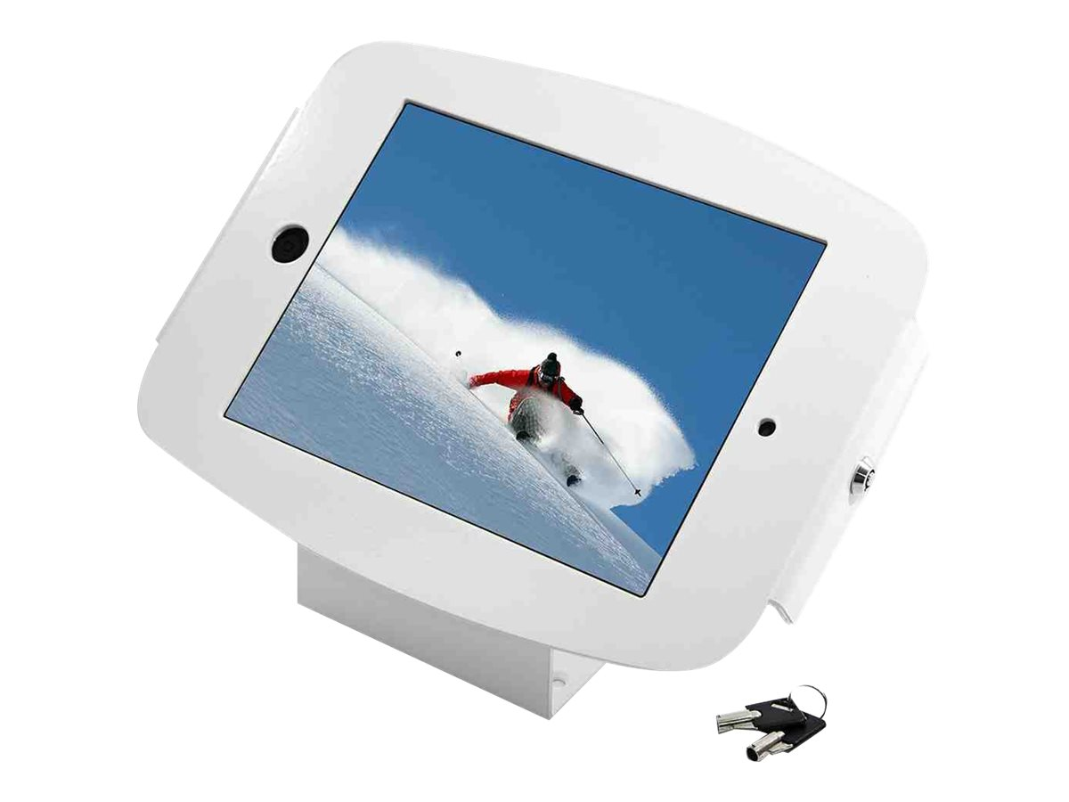 Compulocks Space 45° - iPad Mini Wall Mount / Counter Top Kiosk - White - Wandhalterung für Tablett - Aluminium - weiß