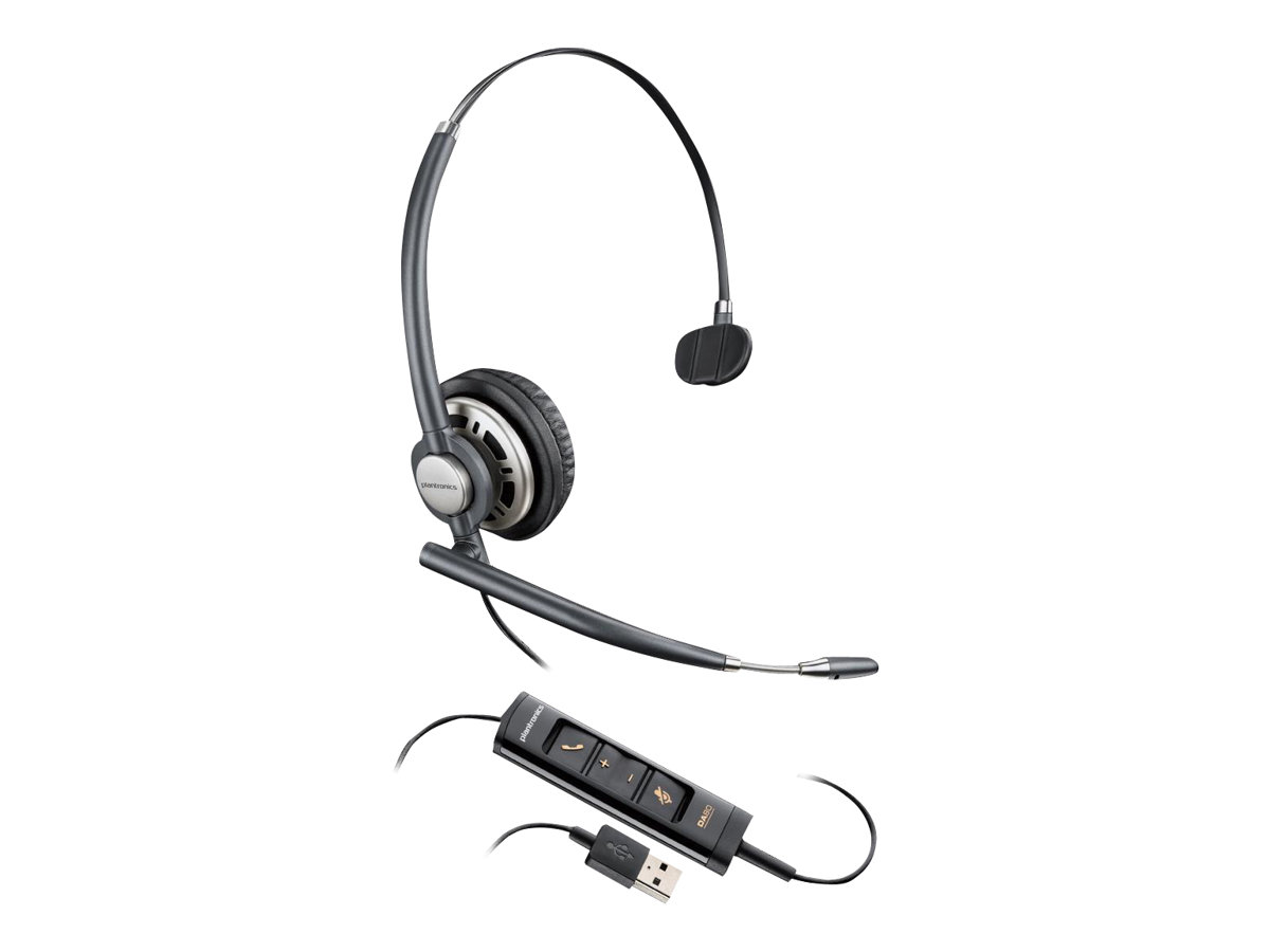 Plantronics EncorePro HW715 - Headset - On-Ear - kabelgebunden - USB