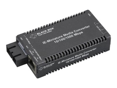Black Box Multi-Power Miniature Media Converter - fiber media converter - 10Mb LAN, 100Mb LAN, GigE