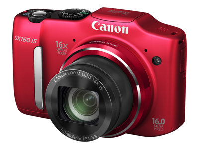 Canon PowerShot SX160 IS Digital camera compact 16.0 MP 16x optical zoom red