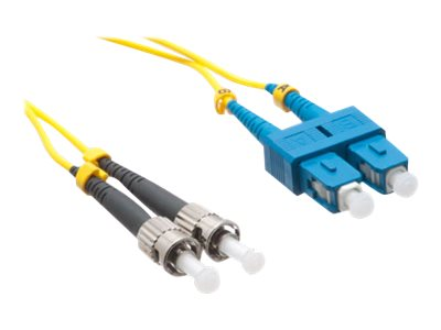 Axiom SC-ST Singlemode Duplex OS2 9/125 Fiber Optic Cable - 4m - Yellow - network cable - 4 m - yellow