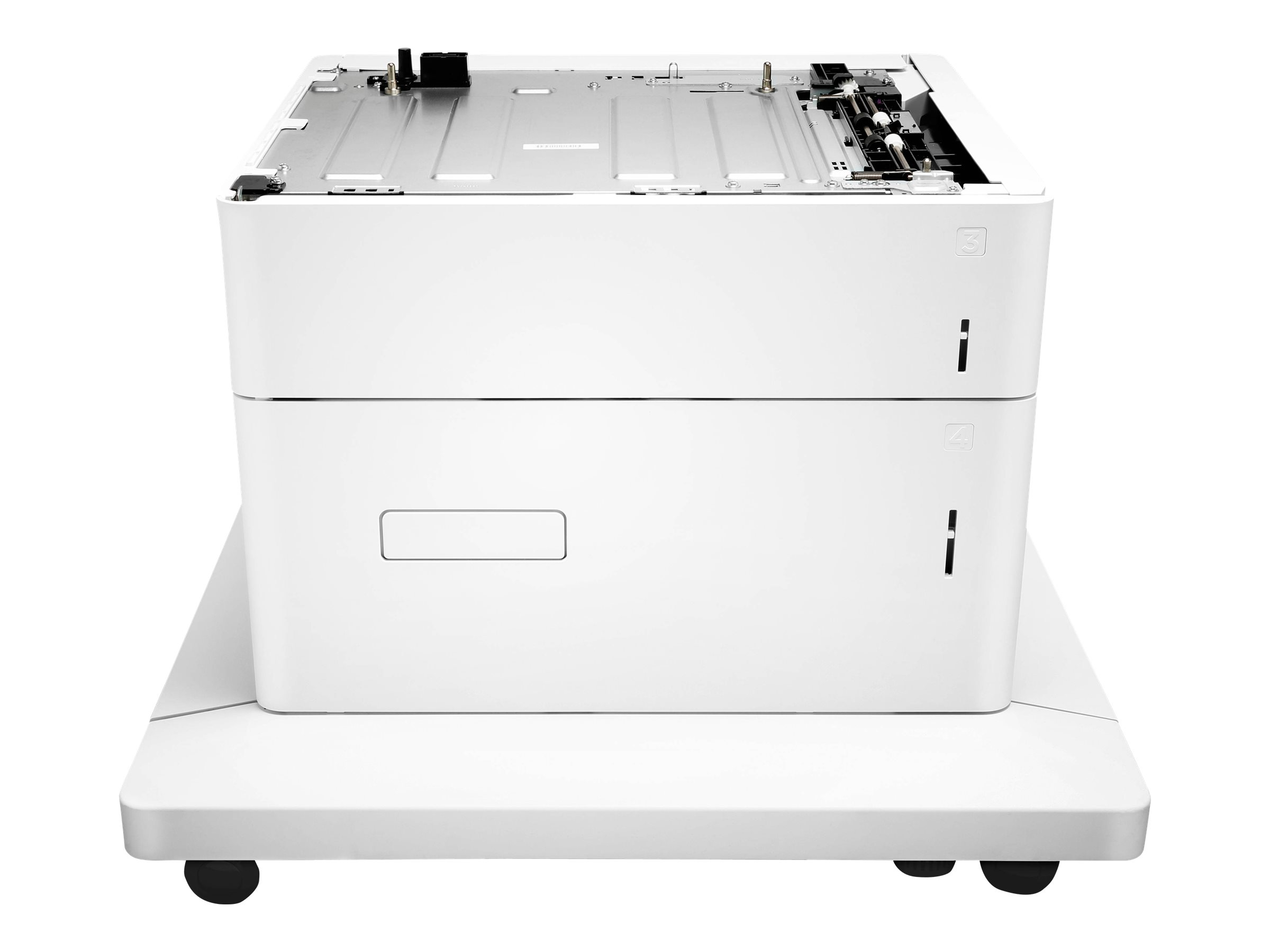 HP Paper Feeder and Stand - Druckerbasis mit Medienzuführung - 2550 Blätter in 2 Schubladen (Trays) - für Color LaserJet Enterprise M652, M653; LaserJet Enterprise Flow MFP M681, MFP M682