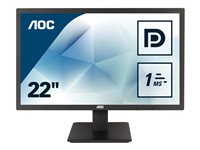 "AOC 75 series E2275SWQE - Écran LED - 22"" (21.5"" visualisable) - 1920 x 1080 Full HD (1080p) - TN - 20000000:1 - 5 ms - HDMI, VGA, DisplayPort - noir"