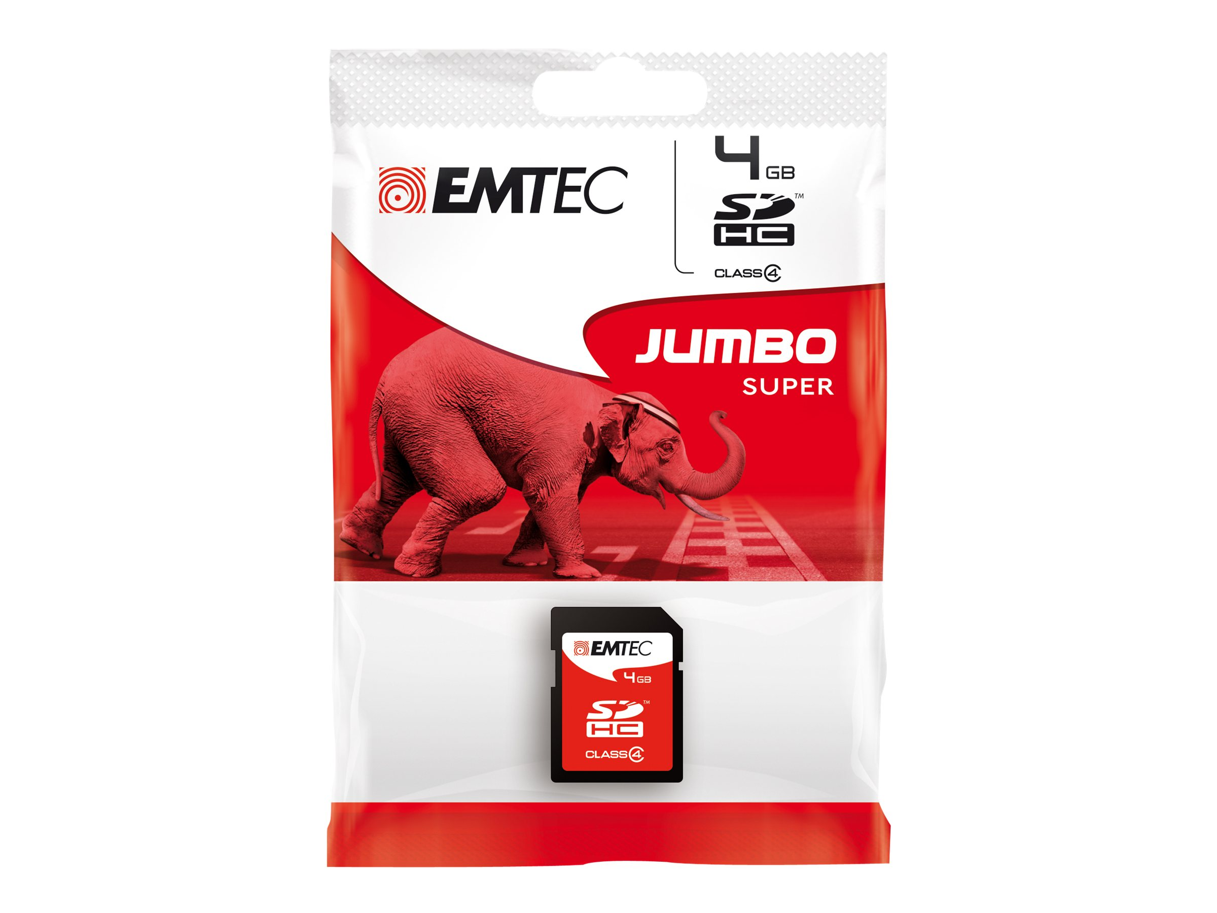 EMTEC Jumbo Super - Flash-Speicherkarte - 4 GB - Class 4 - SDHC