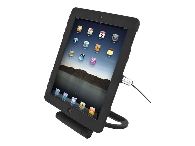 """Compulocks iPad 9.7"""" Rotating Security Plastic Case Keyed Cable Lock Black - security kit for tablet"""