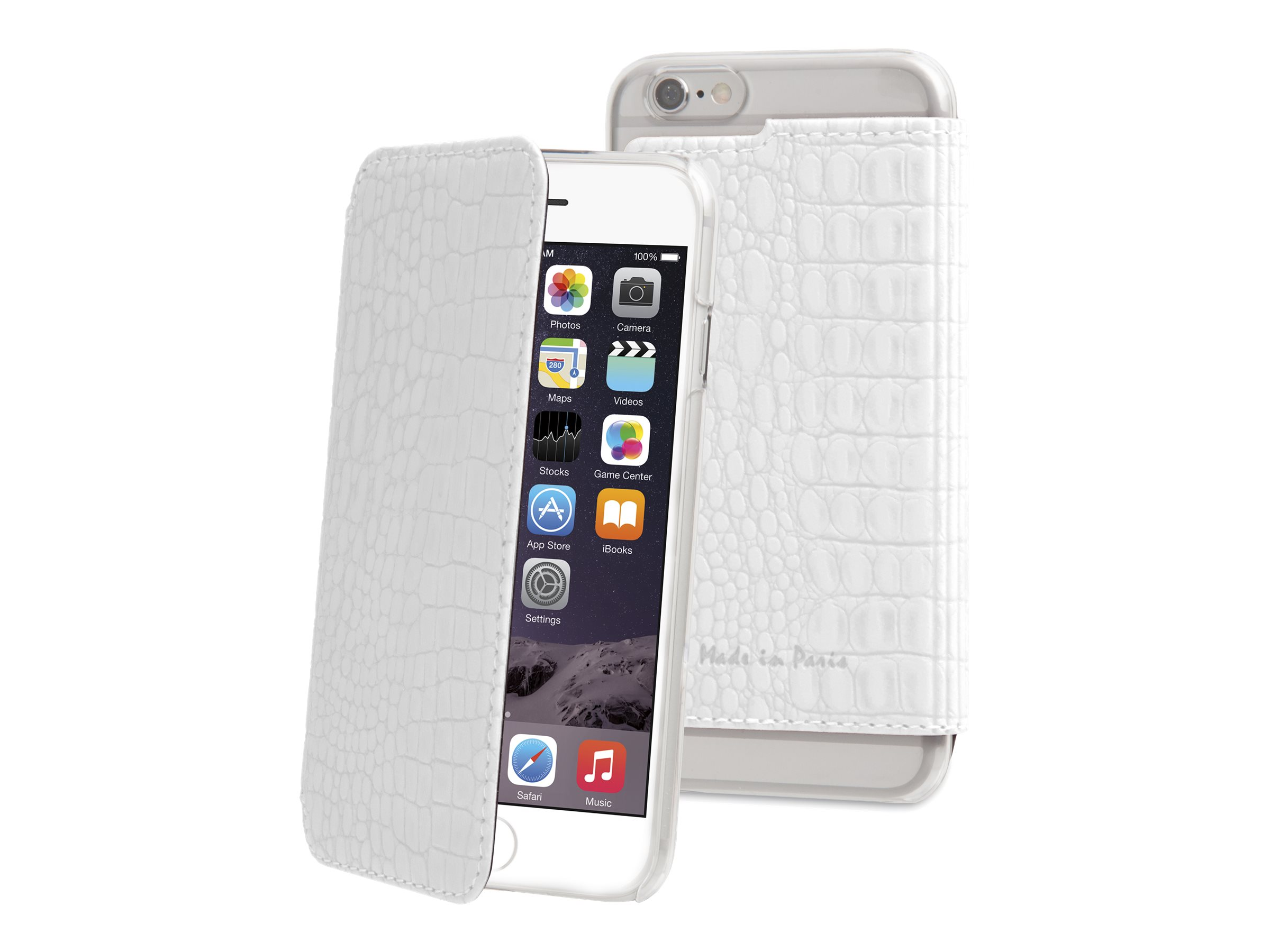 muvit made in paris crystal folio protection rabat pour iphone 6 plus blanc etuis iphone. Black Bedroom Furniture Sets. Home Design Ideas