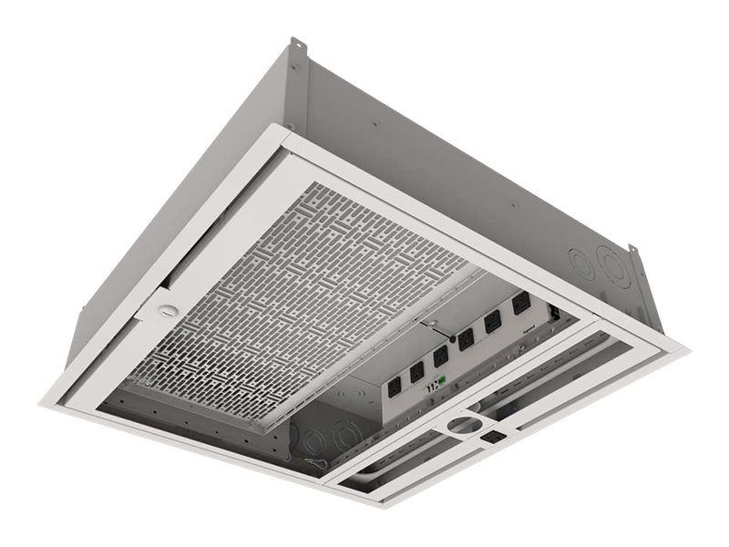 C2G Wiremold Evolution Series Ceiling Box with Dry Contact Controlled Receptacles, Fan and Projector Mount - enclosure