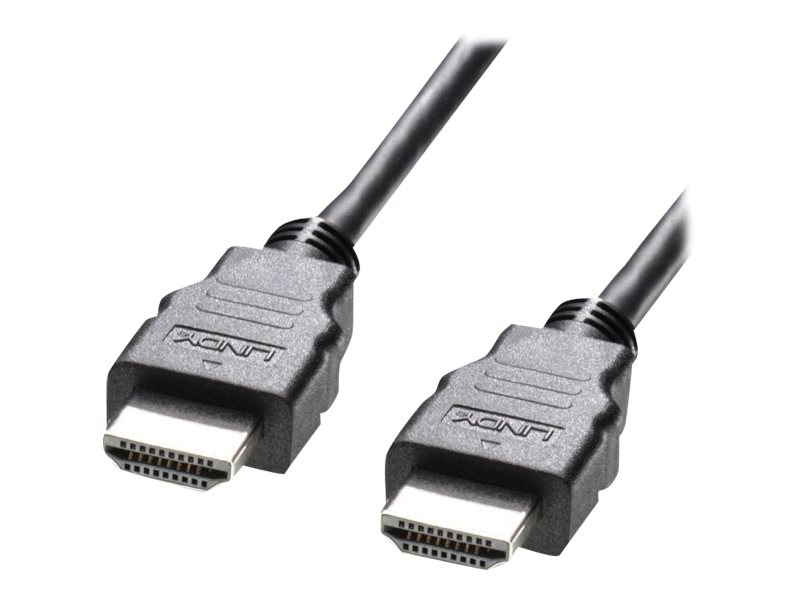 Lindy High Speed HDMI Cable with Ethernet - HDMI mit Ethernetkabel - HDMI (M) bis HDMI (M) - 1 m