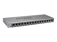 NETGEAR ProSafe Plus GS116Ev2 - Switch - Managed - 16 x 10/100/1000 - desktop, wall-mountable