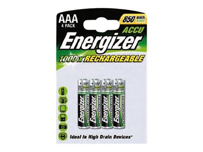 Piles & Chargeurs Energizer Rechargeable - batterie - 4 x type AAA