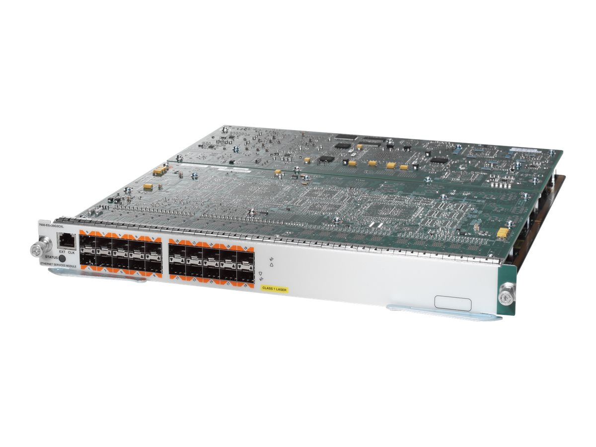 Cisco Ethernet Services Plus 20G Line Card - switch - 20 ports - managed - plug-in module - with Cisco Distributed Forw…