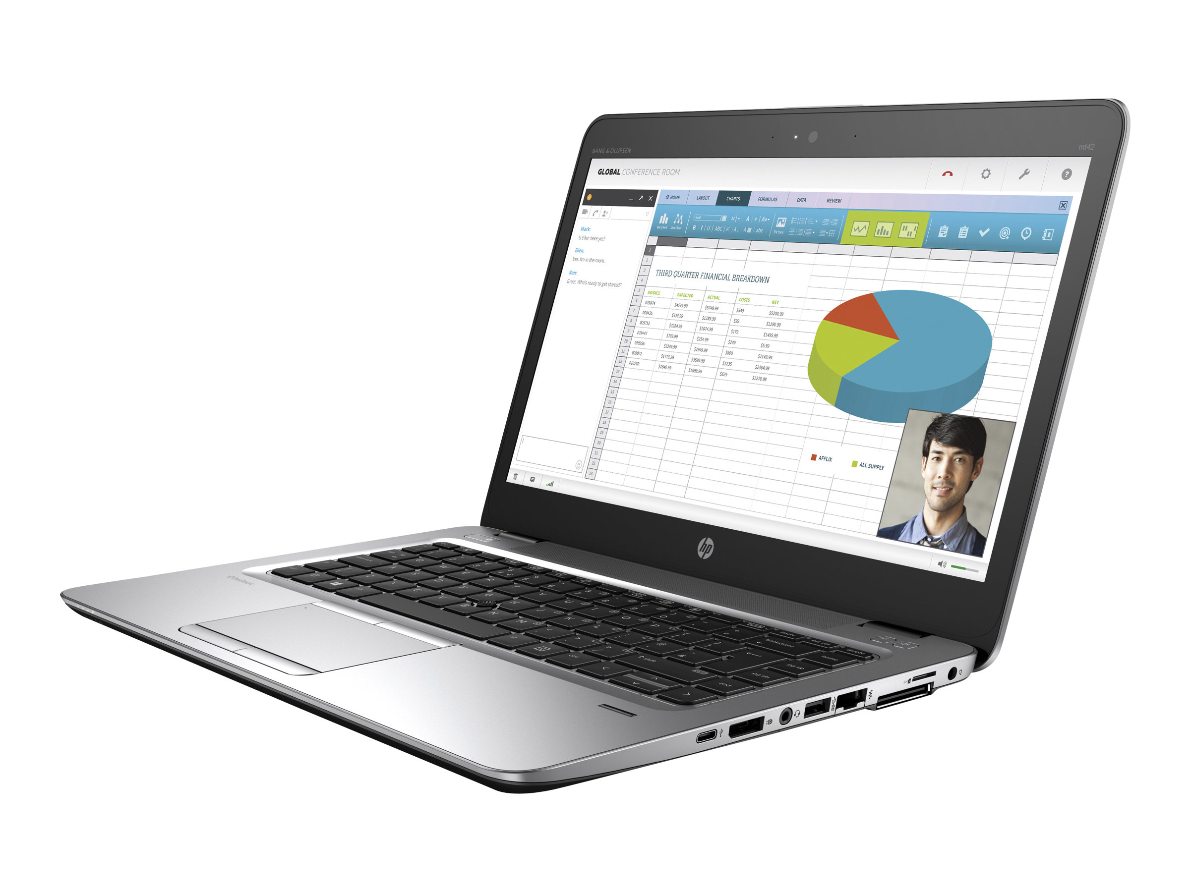 HP Mobile Thin Client mt42 - A8 PRO-8600B / 1.66 GHz - Win Embedded Standard 7E 32-Bit - 4 GB RAM - 32 GB SSD - 35.6 cm (14