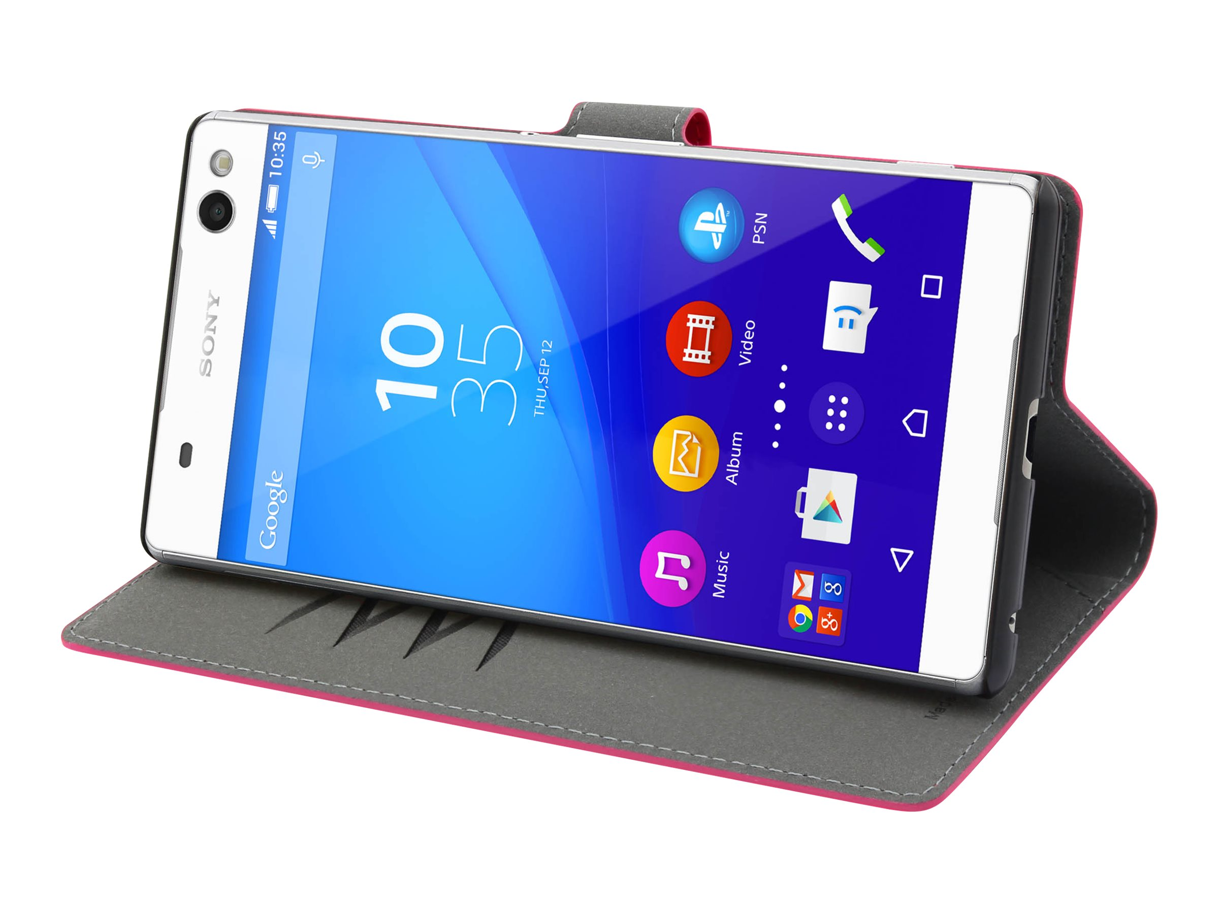 Muvit MFX Wallet Folio - Protection à rabat pour Sony XPERIA C5 Ultra - rose