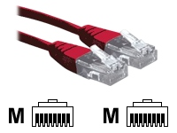 1M Red RJ45 UTP CAT 6 Stranded Flush Moulded Snagless Network Cable 24AWG LS0H