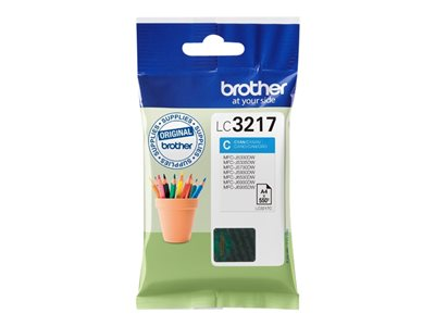Brother LC 3217C Cyan 550 sider
