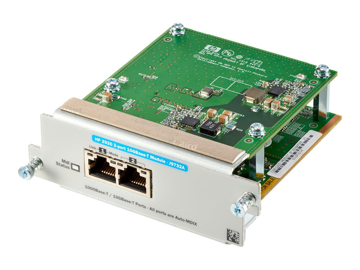 HPE - expansion module - 10Gb Ethernet x 2 - Smart Buy