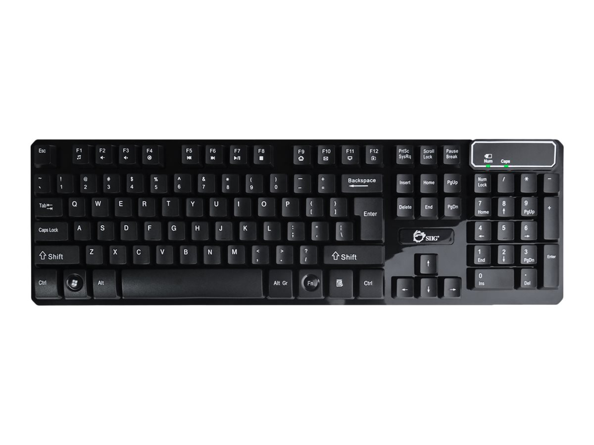 SIIG Wireless Dura-Duo Keyboard & Mouse Combo - keyboard and mouse set - QWERTY - black