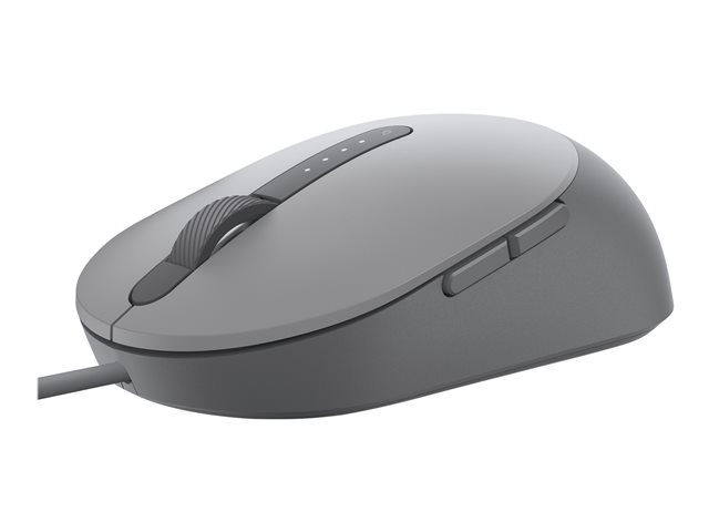 Dell MS3220 - Mouse - laser - 5 buttons - wired - USB 2.0 - titan gray - with 3 years Advanced Exchange Service - for Latitude 3120, 5320, 54XX, 5520, 7320, 7420, 7520, 9420 2-in-1